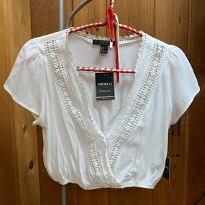 Cropped blouse tee